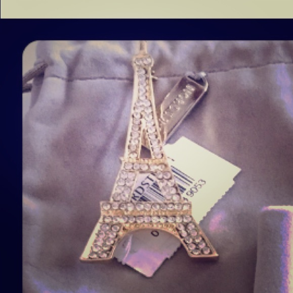 Nordstrom Eiffel tower pin new with tag & Pouch